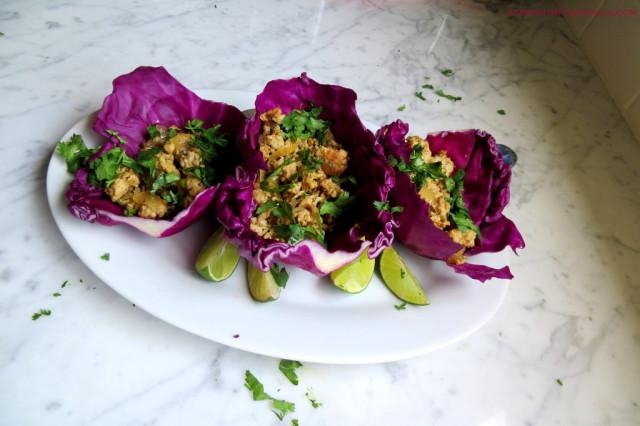 Asian chicken cabbage wraps startwithfourwalls.com