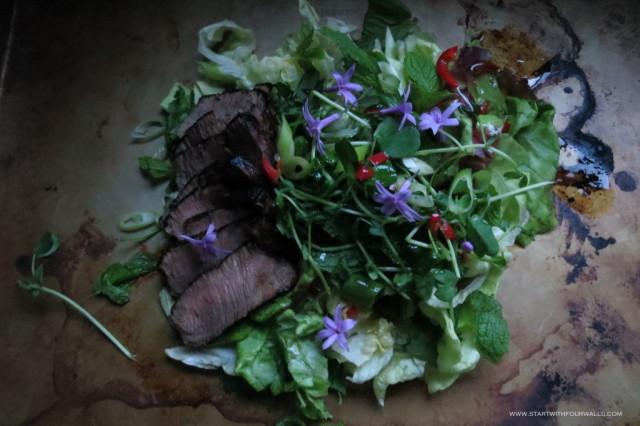 Thai Beef Salad startwithfourwalls.com
