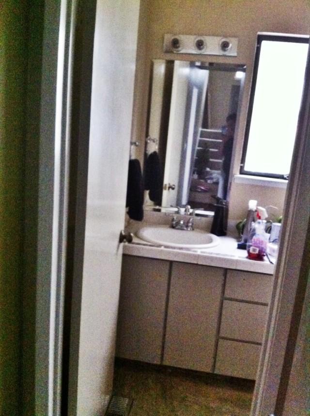 small bathroom renovation DIY startwithfourwalls.com