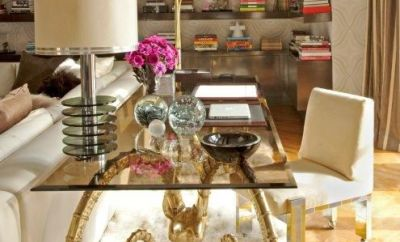 Floating Shelves in Tamara Mellon's House
