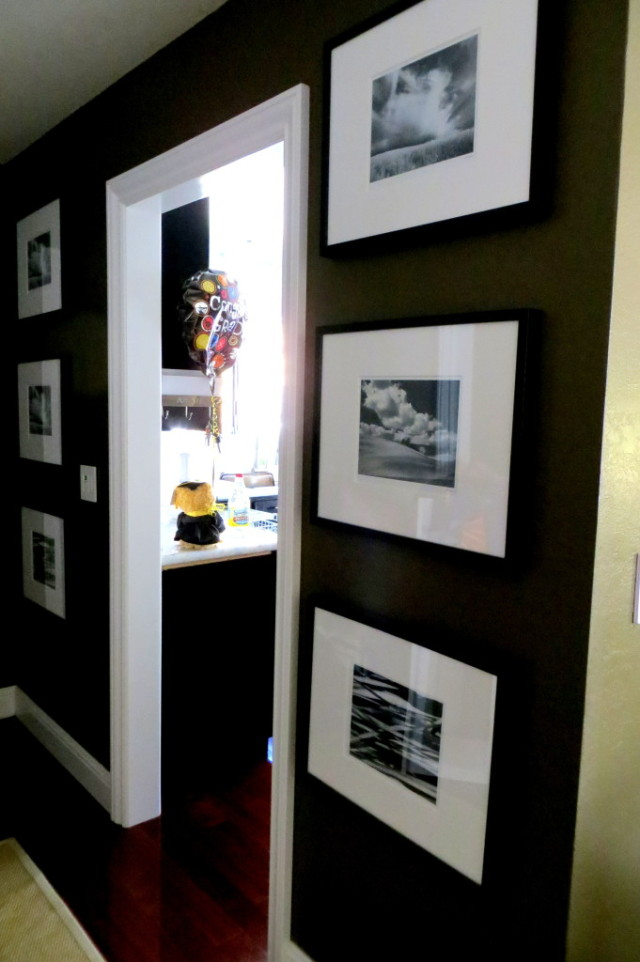 Gallery wall in entryway