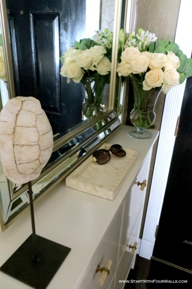 Small Foyer Makeovers : Small entryway makeover before and after start with