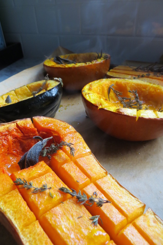 Cooked squashes come out of the oven startwithfourwalls.com