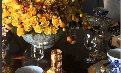 Lavish Thanksgiving table setting startwithfourwalls.com