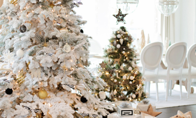 Flocked Christmas startwithfourwalls.com