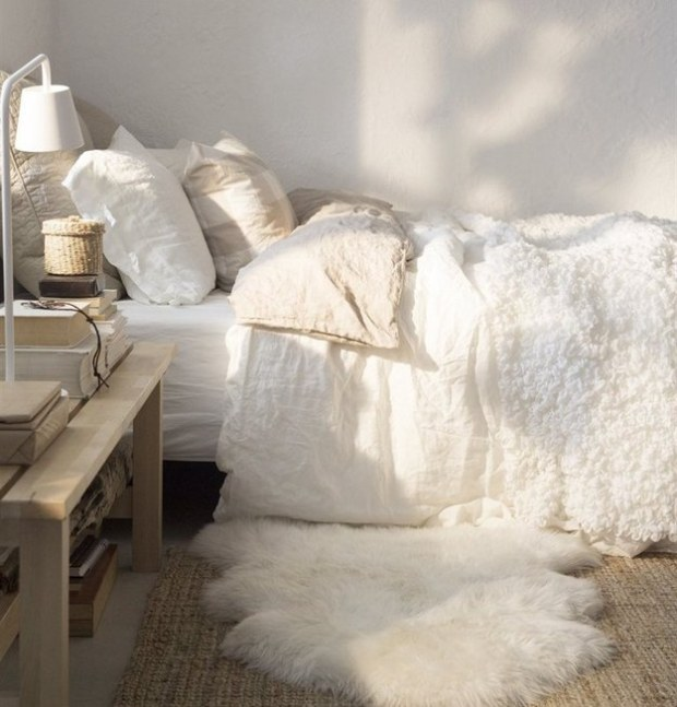Rainy Day Decor, sheepskin rug startwithfourwalls.com