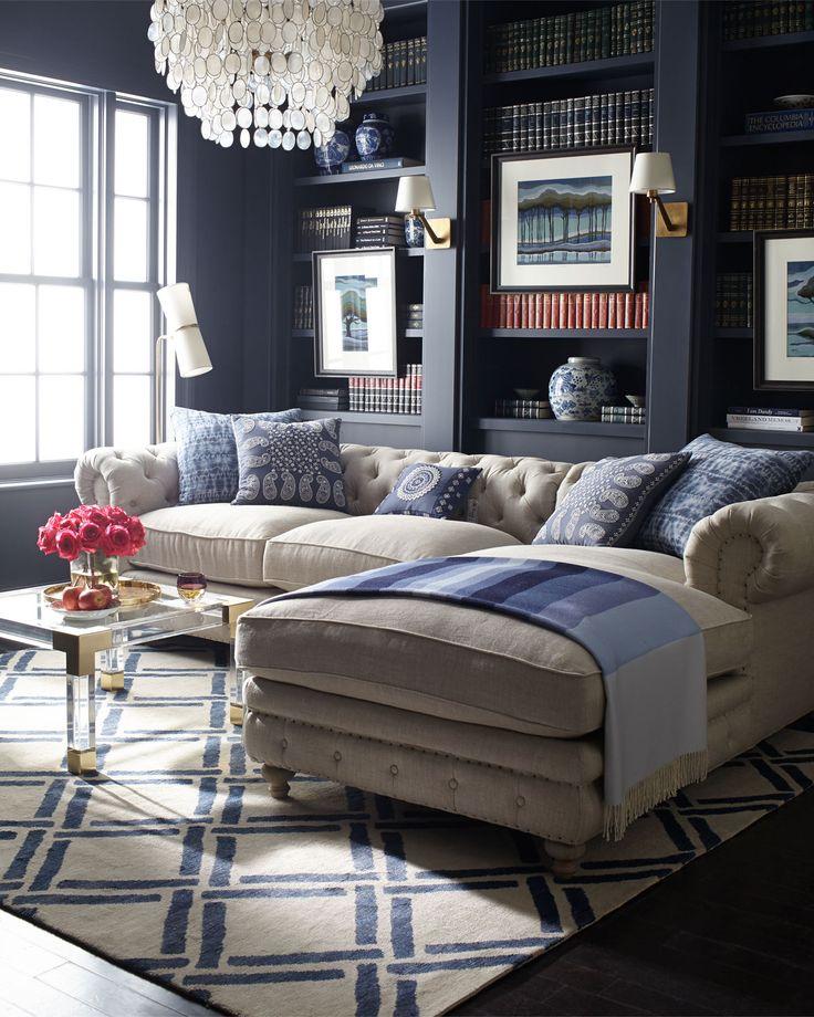 Incroyable Tufted Back Sectional Sofa