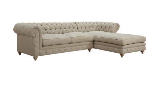 Tufted Back Sectional Sofa Startwithfourwalls.com