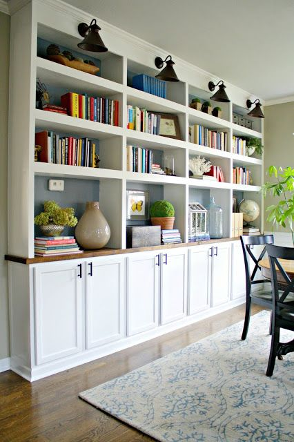 Bookcase Bliss in the Dining Room startwithfourwalls.com