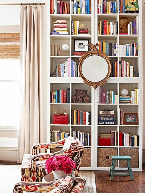 Bookshelf Ideas for the Living Room startwithfourwalls.com